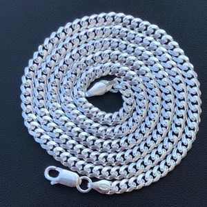Other - Men's Solid 925 Silver 4mm Miami Cuban Chain